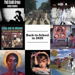Back to school playlist cover image with album covers