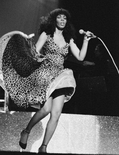 Image of Donna Summer on stage